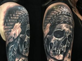 tattoo of the skull on the hand