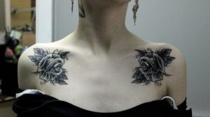 flowers on the clavicle