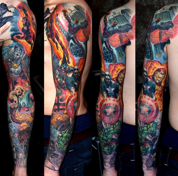 sleeve of super heroes from Marvel
