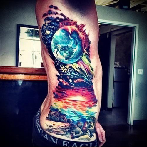 Watercolor tattoos. Tattoo art style