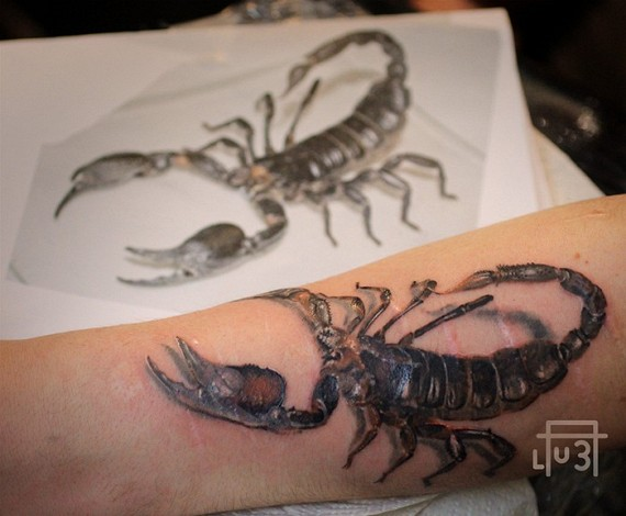 Tattoo sign of the zodiac Scorpio
