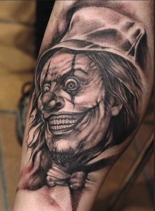 tattoo of the evil clown