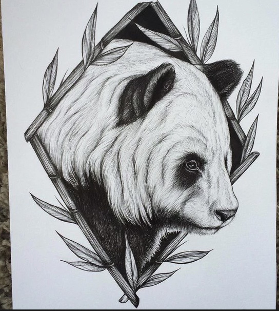 "sketch for tattoo ""panda"""