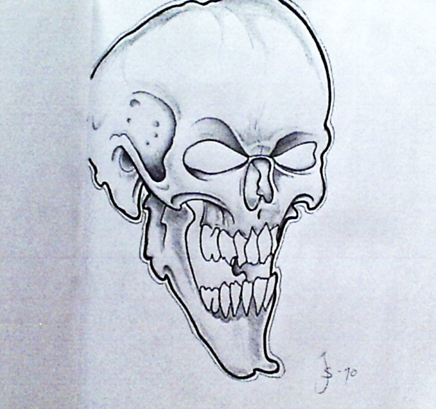 sketch of the skull