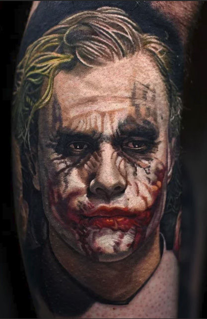 tatoo joker from the movie batman
