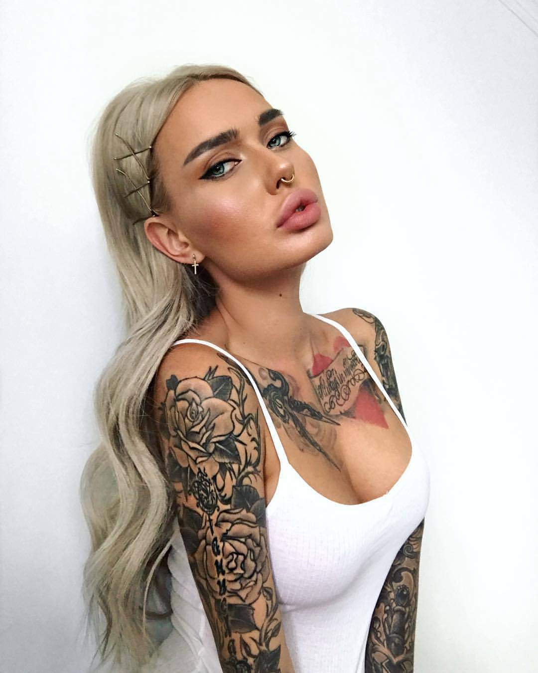 tattoo on chest and sleeves