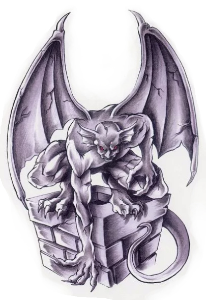 Sketch of tattoo - Gargoyle