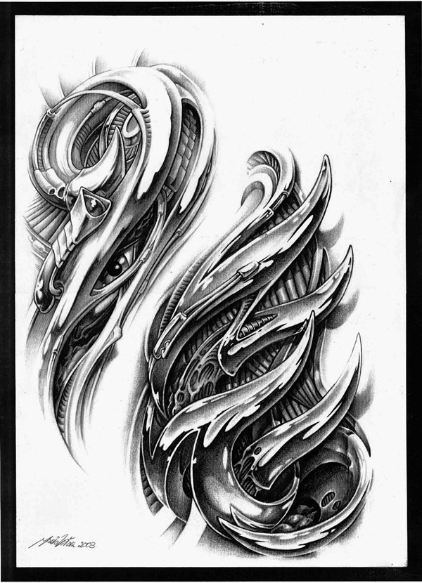 Sketch of tattoo design
