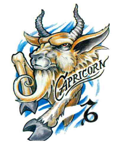 Sketch for tattoo Sign of the zodiac of Capricorn