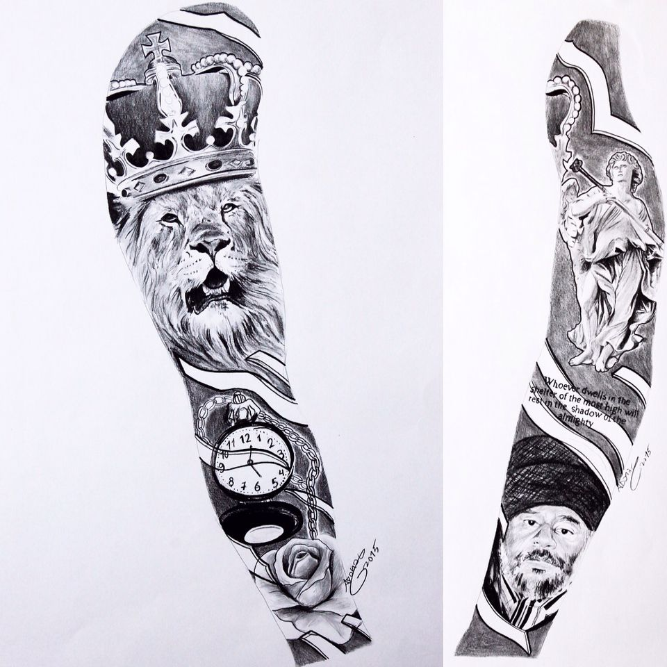 Tattoo Sleeve Sketches: Sketches For Tattoos Of Sleeves