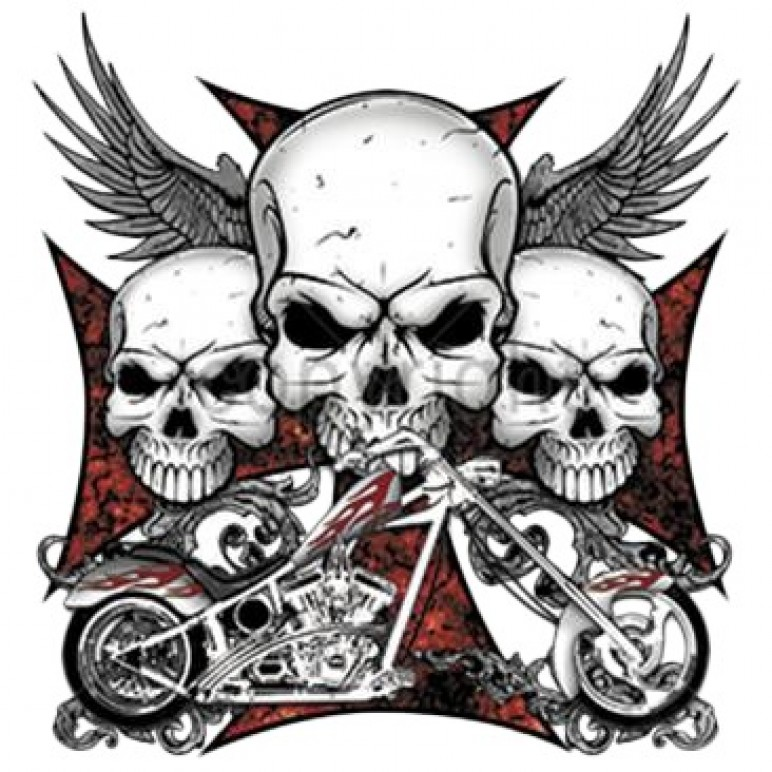 Sketch for motorcycle and clan tattoos