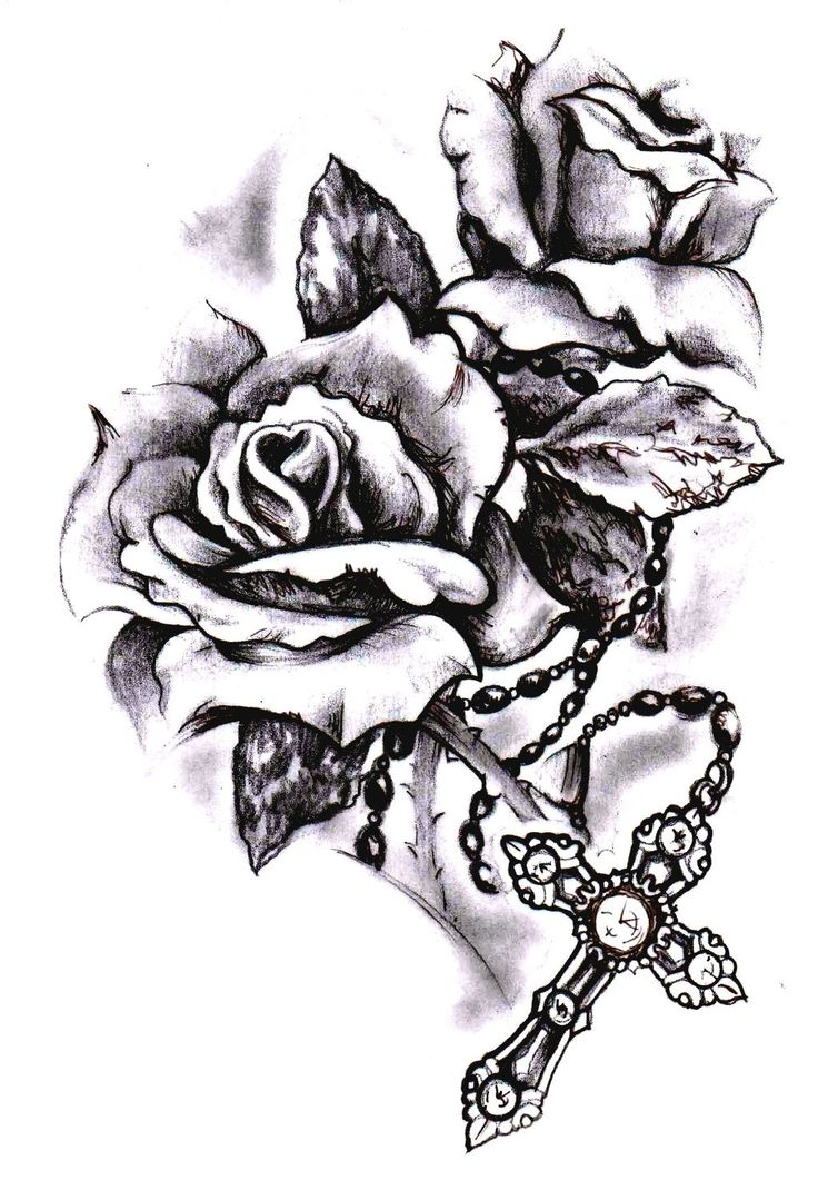 Cross With Flowers Tattoos - Tattoo Body