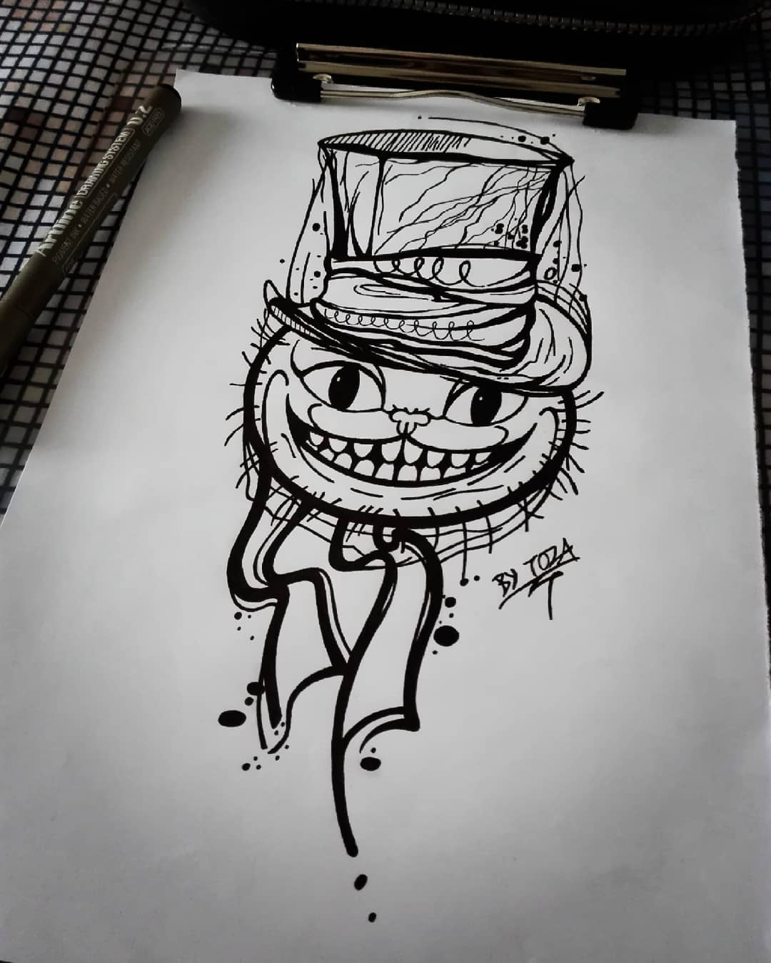 Sketch of the Cheshire Cat