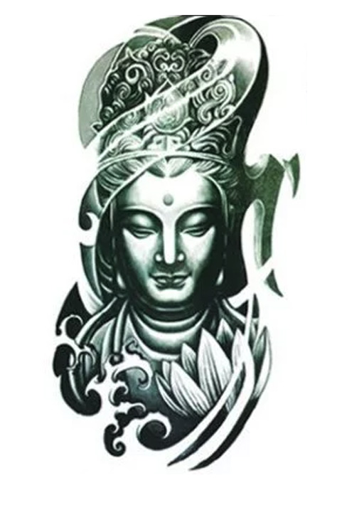 Sketch for tattoo sleeves - buddha