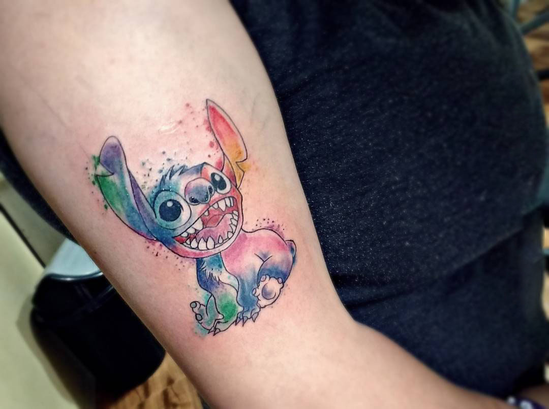 Sketch of a cartoon character Stitch