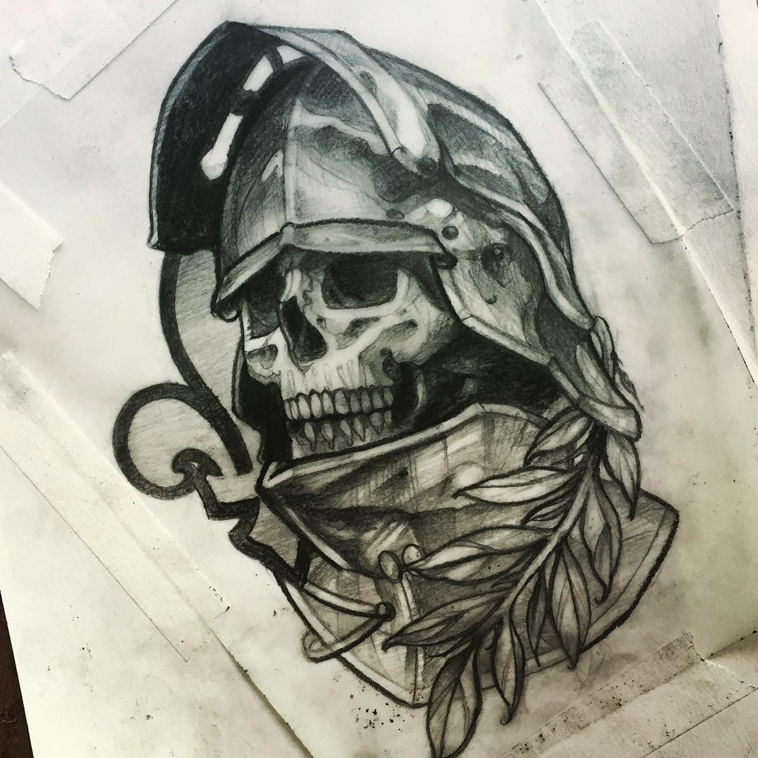 Sketch - Skull of a Knight in Armor