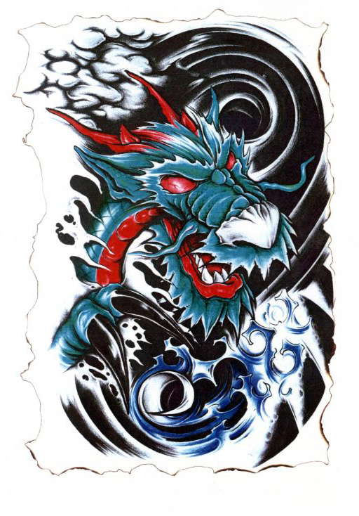 Sketch of a dragon (Japanese style)