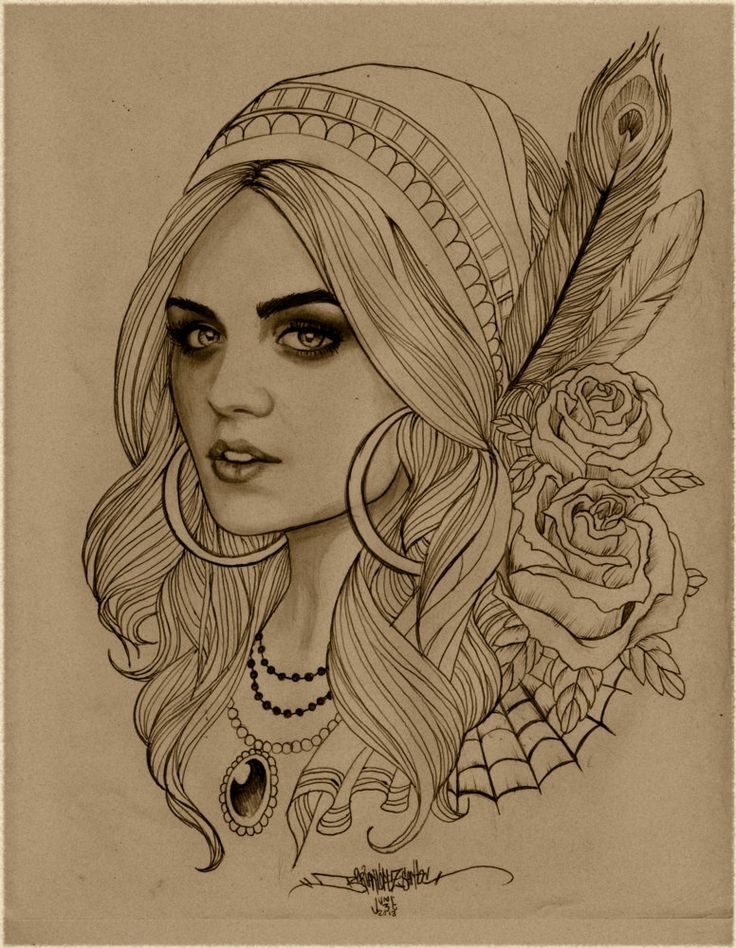Indian sketches for tattoos