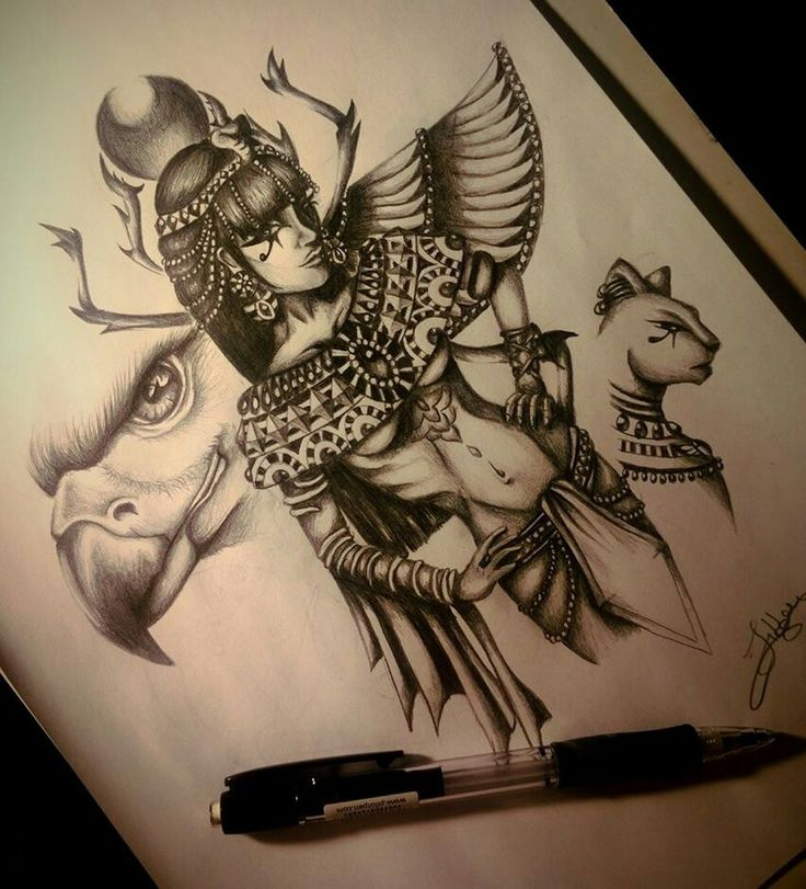 Sketch of tattoo - Egyptian queen