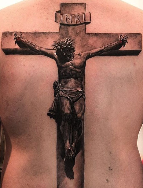 tattoo of the crucifixion of Christ