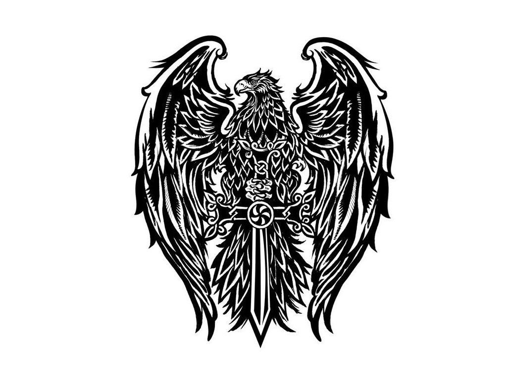Sketch of tattoo - Eagle