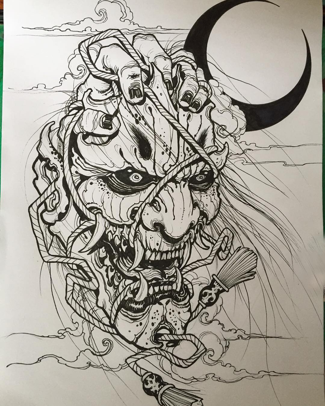 Sketches for tattoo masks