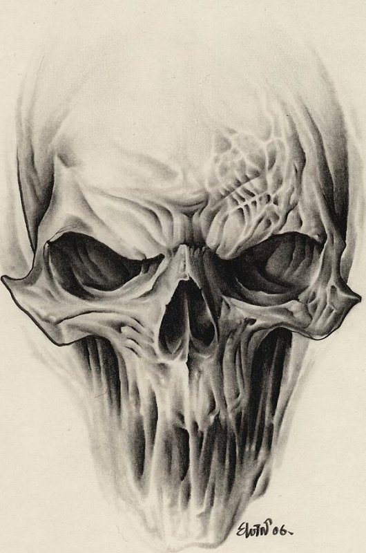 Sketch of tattoo - skull
