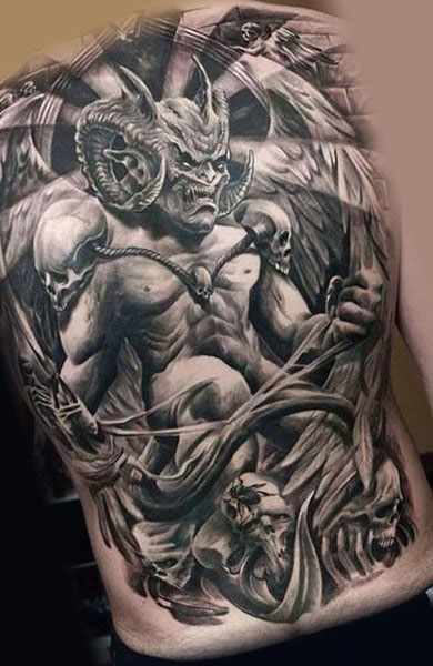 tattoo of a demon