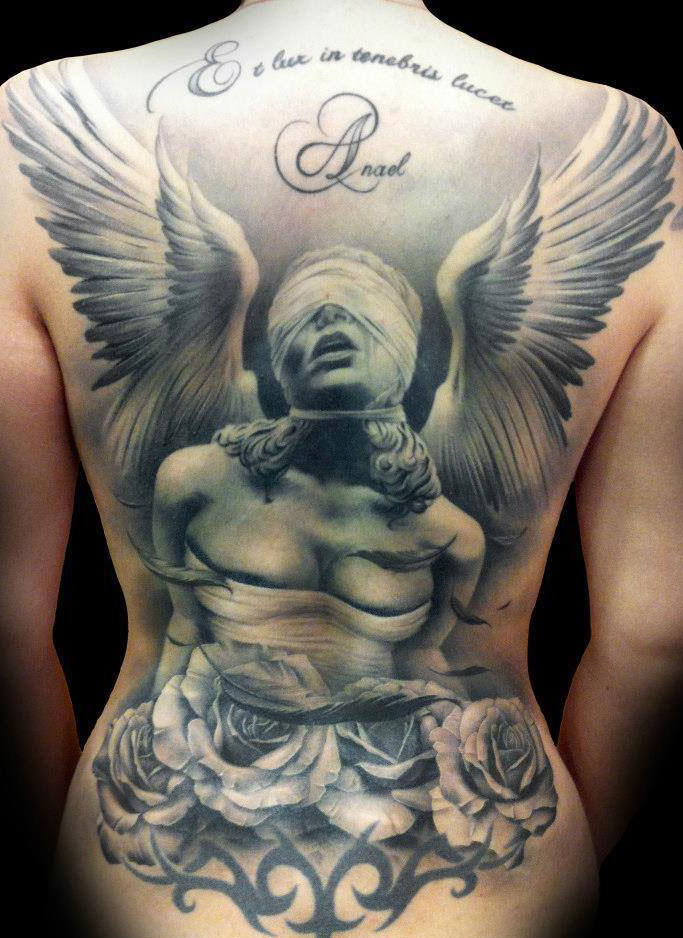 tattoo girl with wings