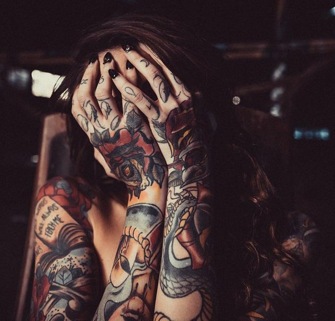 Tattoo Girl's Sleeve