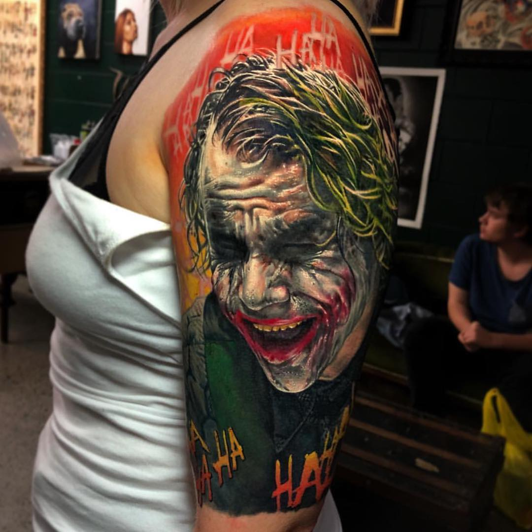 sleeve with movie hero joker