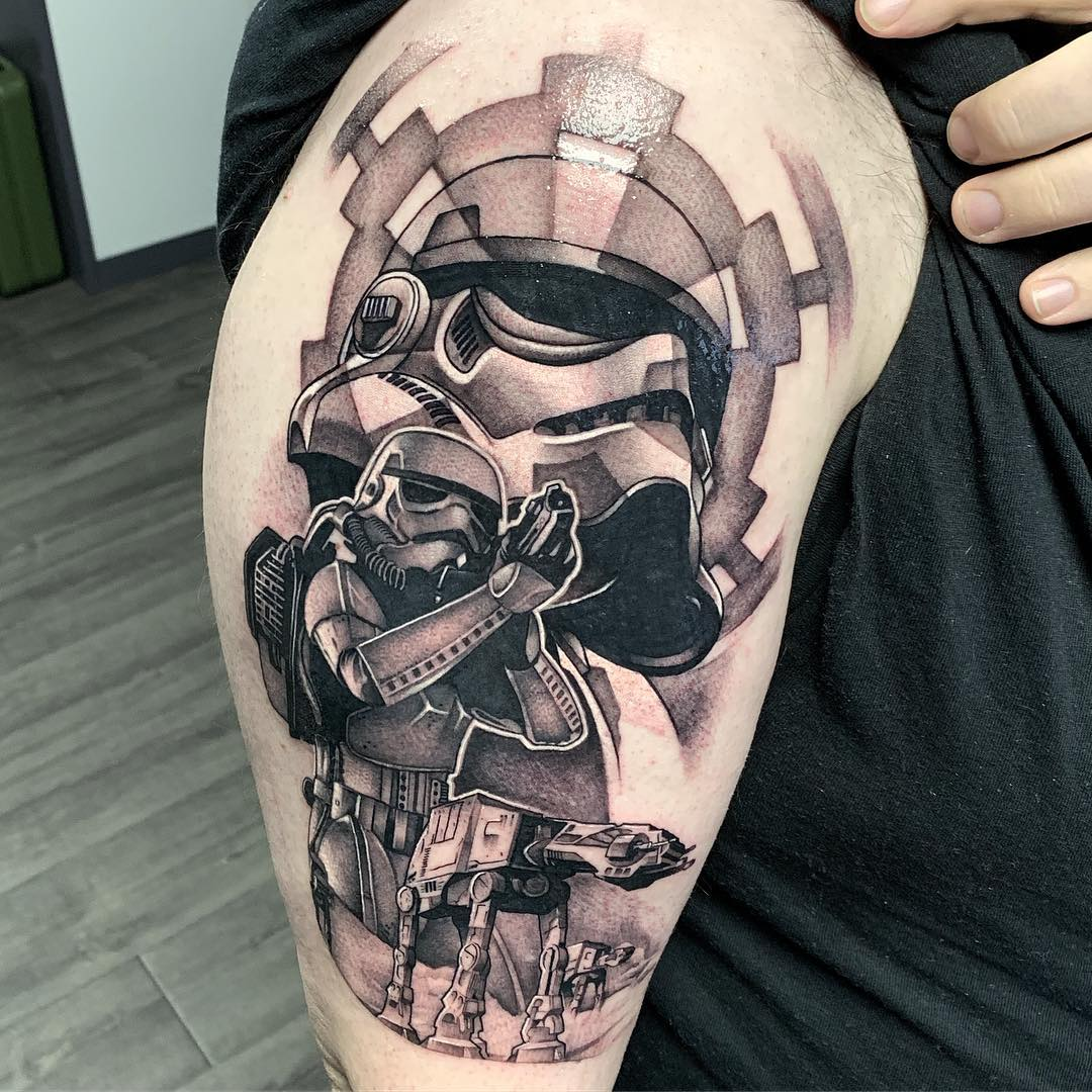 sketch of tattoo from movie star wars