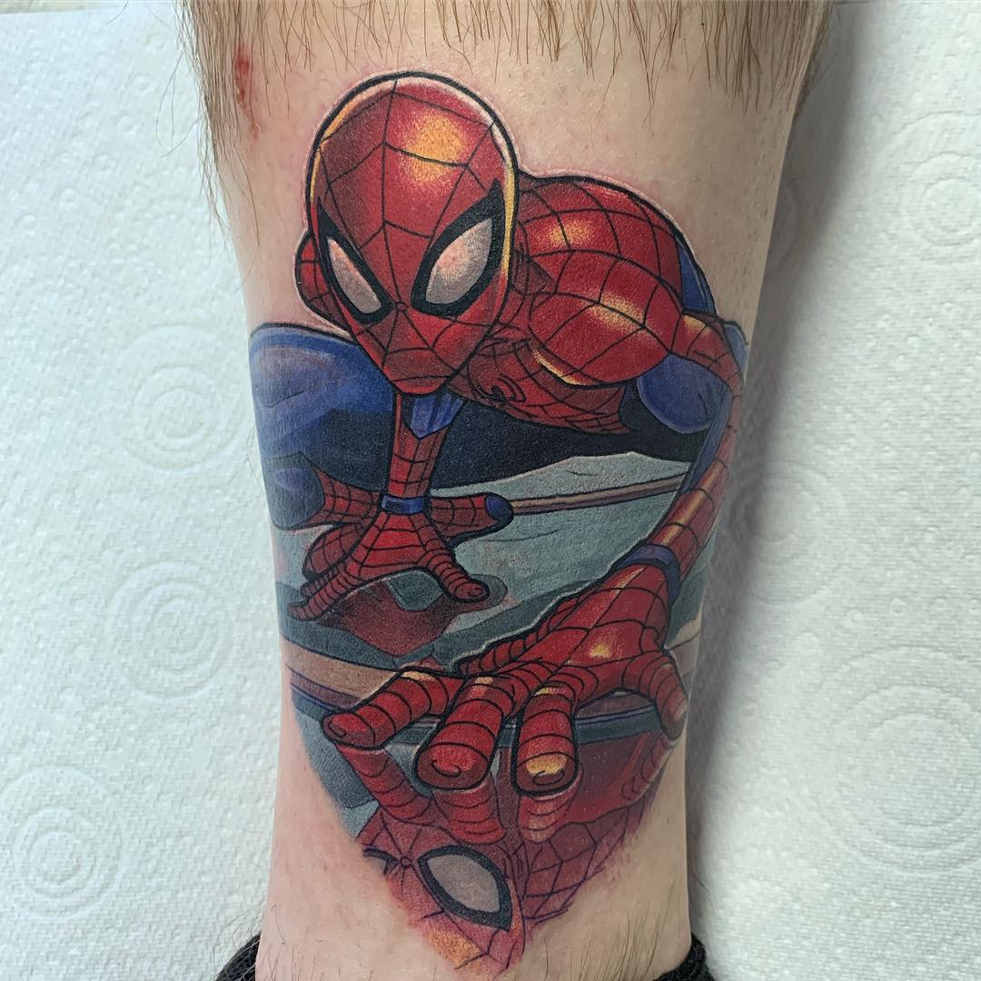 sketch of a tattoo from the movie spiderman