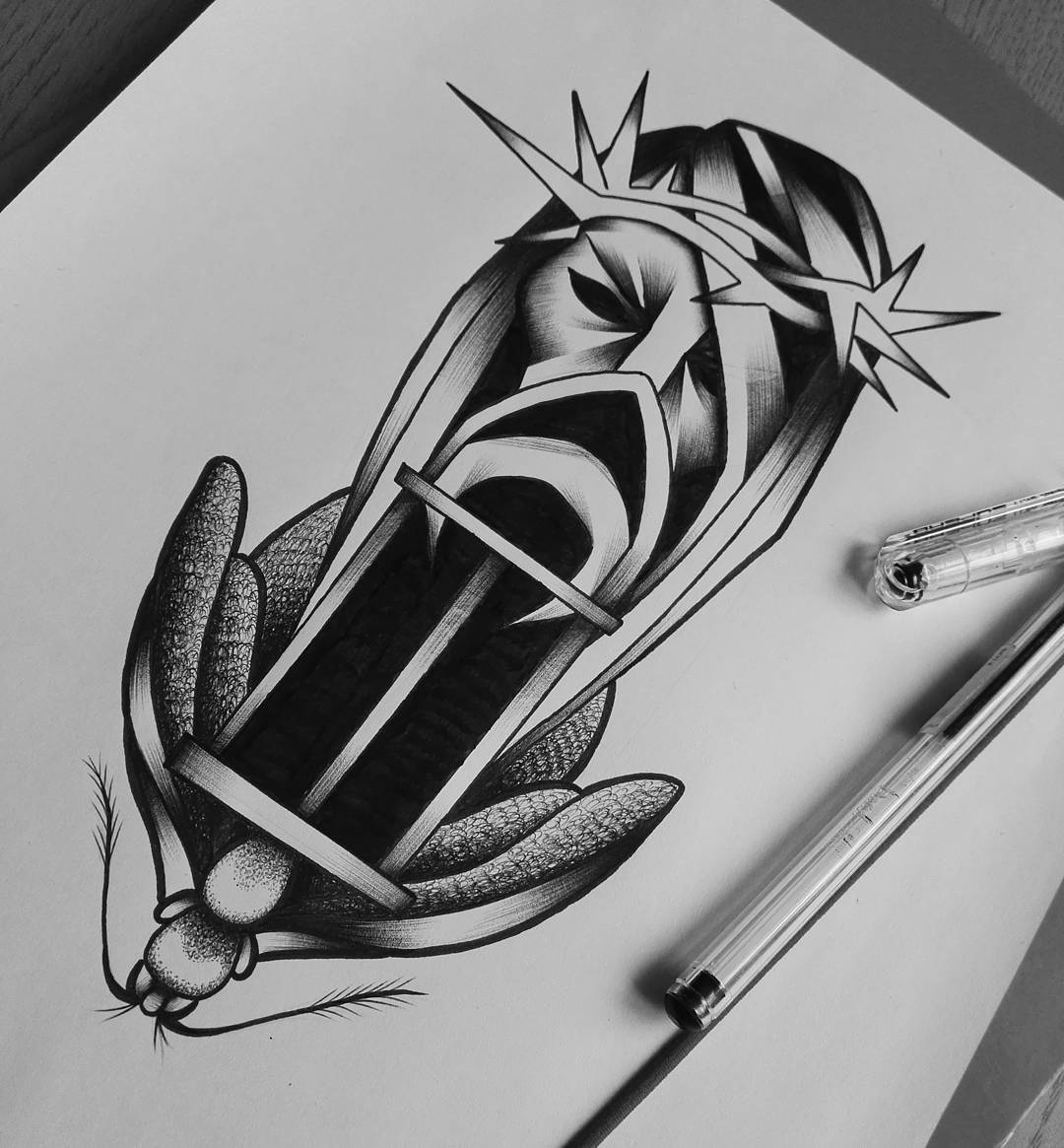 Abstract pencil Sketches tattoo