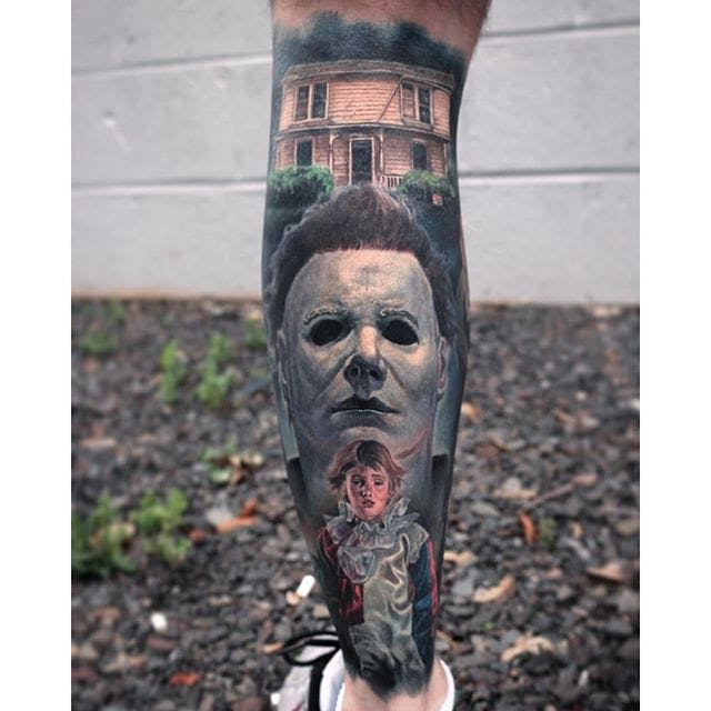 horror tattoos made on foot