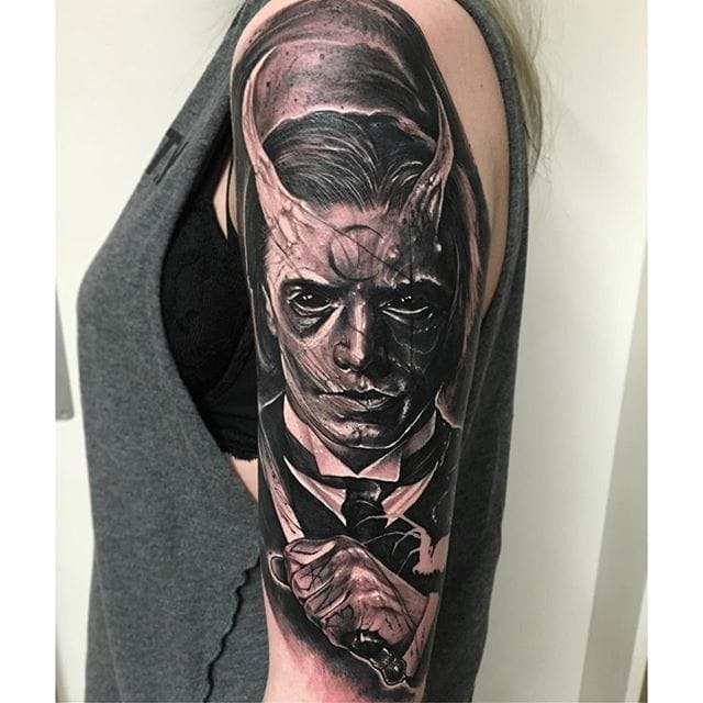 horror movie tattoo from the movie demon