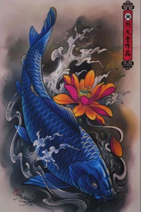 carp koi tattoo