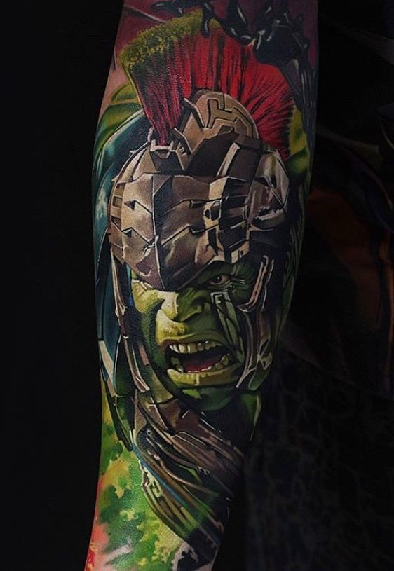 marvel hulk tattoo