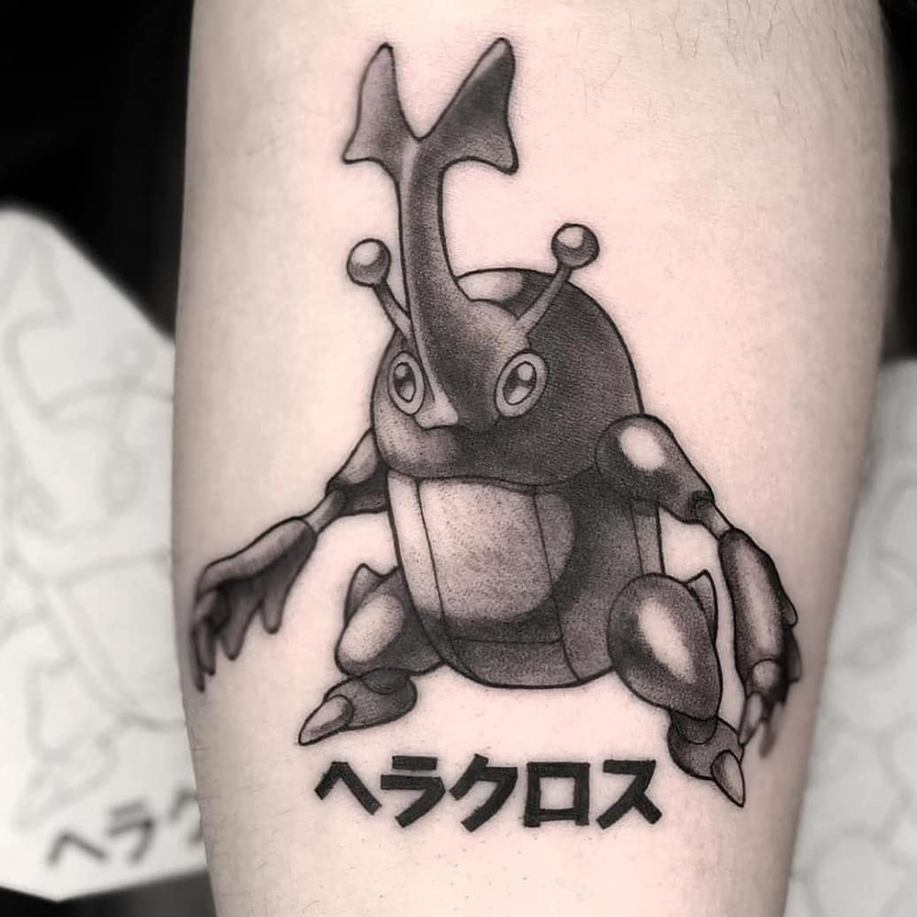beetle abstract tattoo