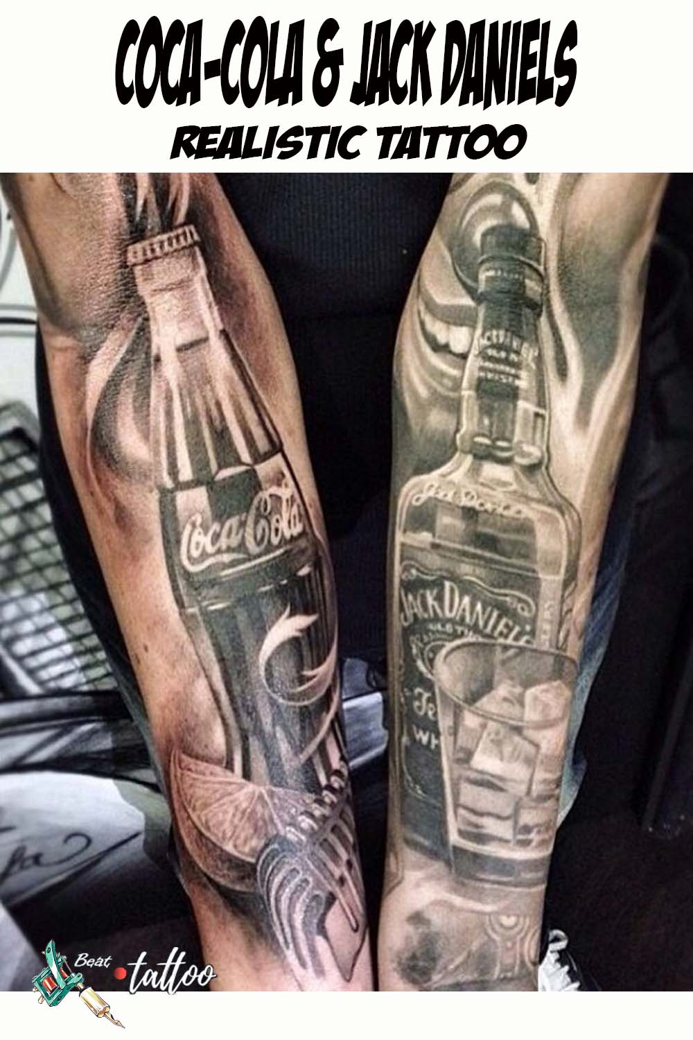 Coca-cola & Jack Daniels Sleeve Tattoo