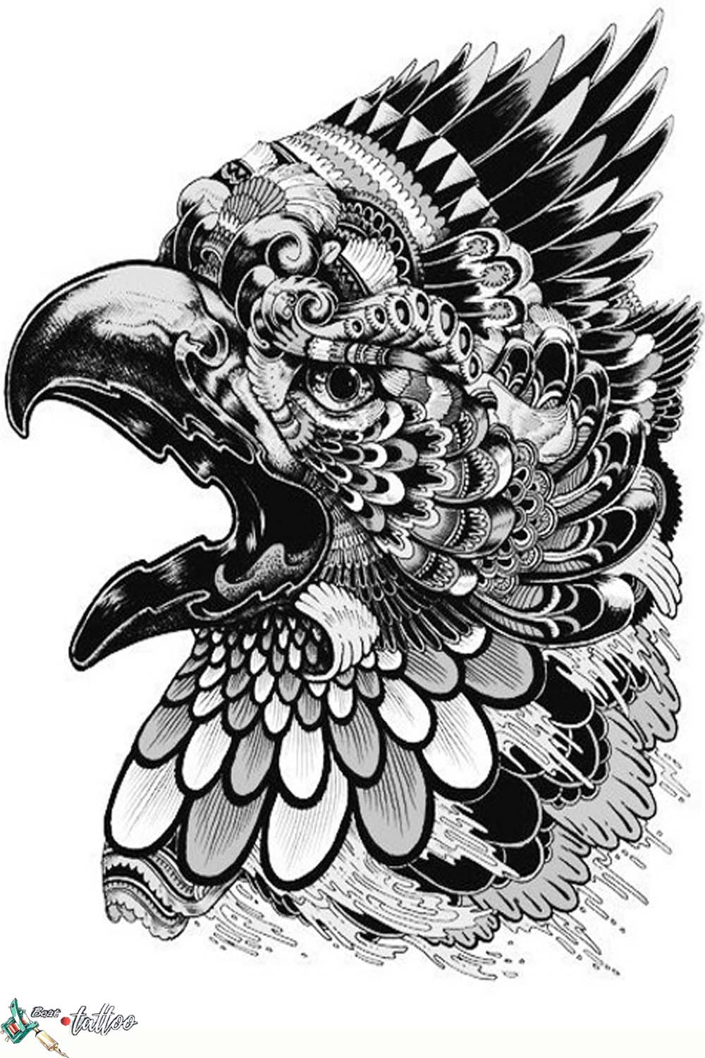 Sketch for tattoo - Griffin
