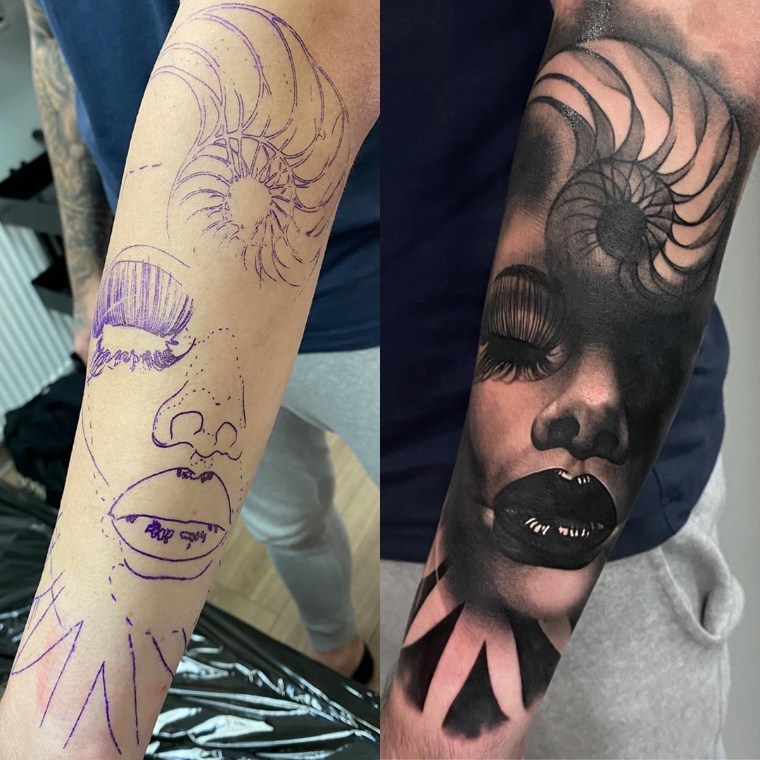 Sleeve cover up example Tattoo