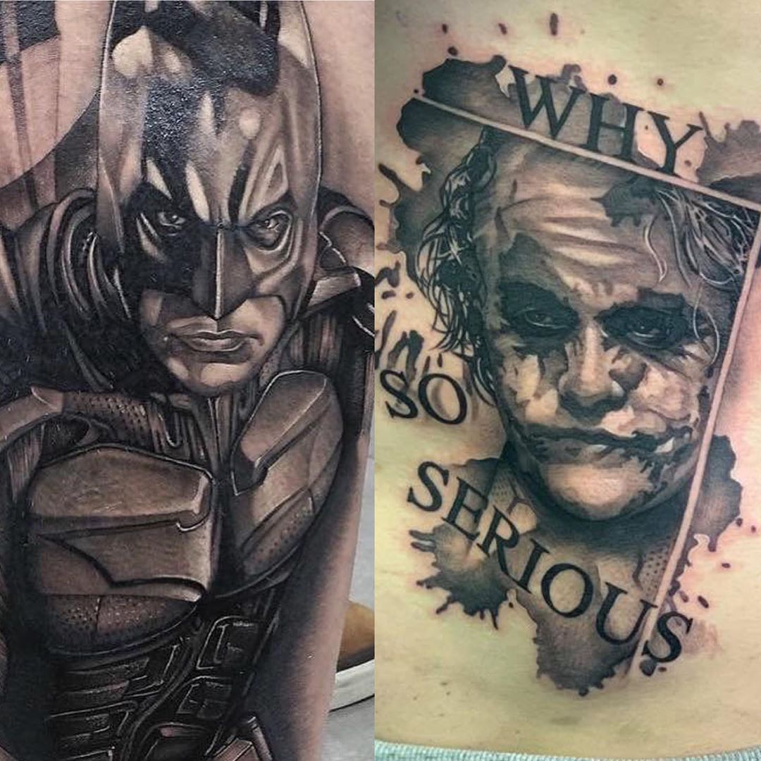 Eternal confrontation, Joker and Batman, now in a tattoo