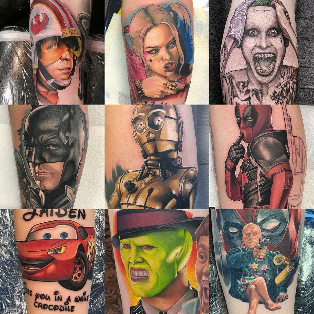 Tattoo in the style Marvel & DC Movies