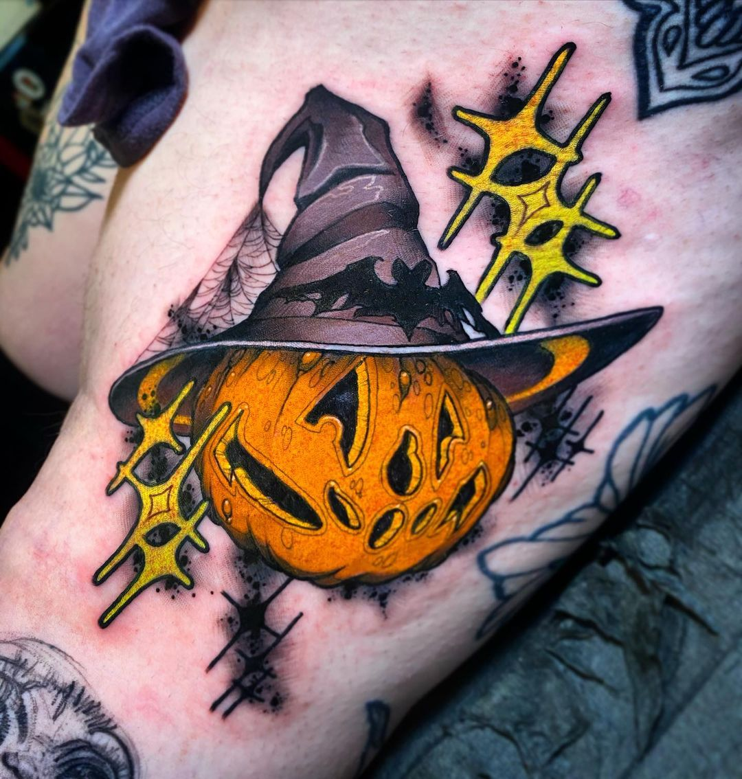 Halloween is National Pumpkin Day. This feels appropriate Tattoo