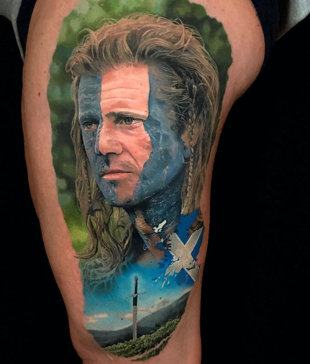 Mel Gibson Tattoo - Braveheart movies