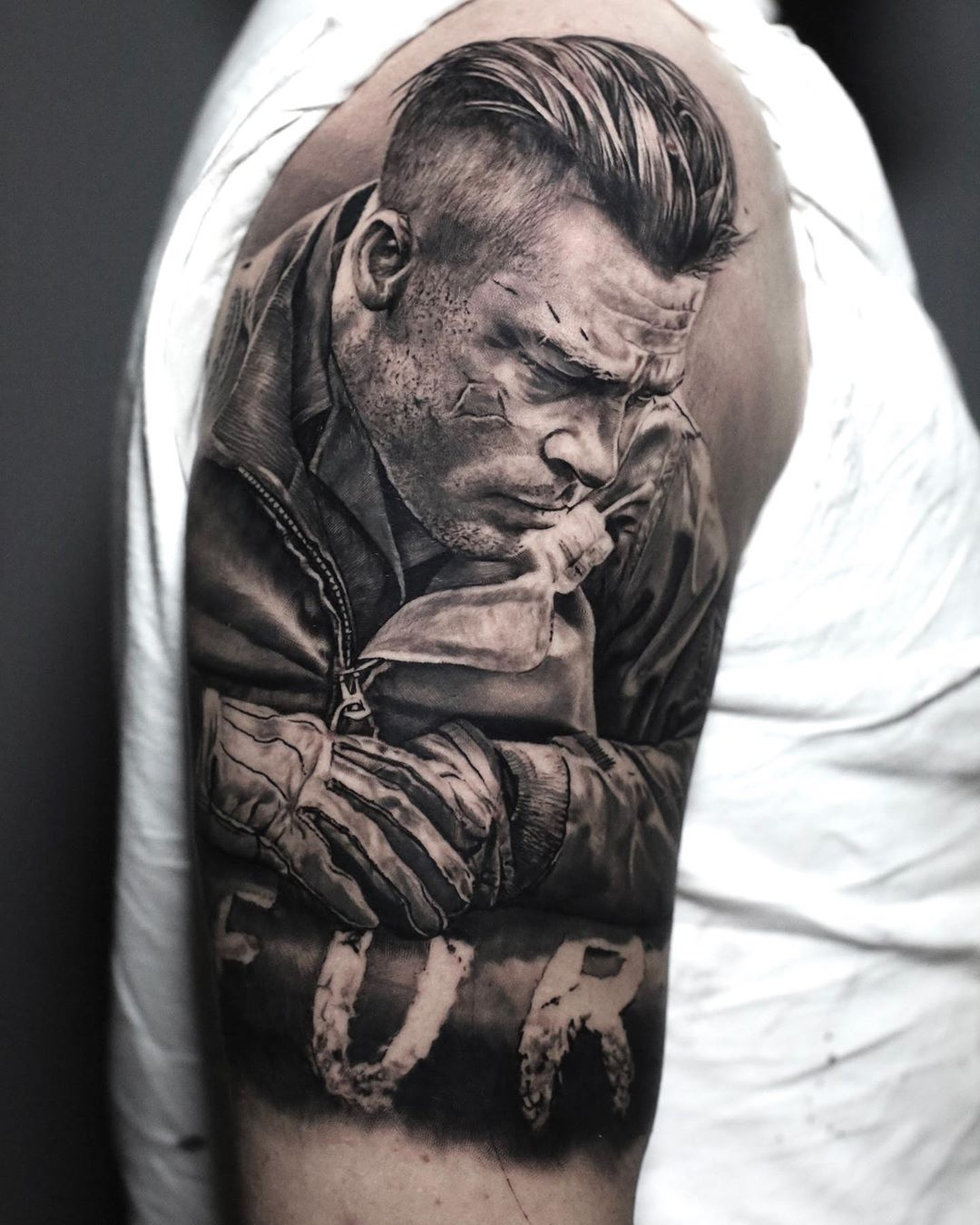 Brad Pitt tattoo from the movie Fury